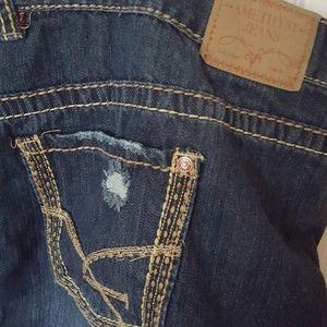 Amethyst Jeans Skirts - Amethyst Jeans Denim miniskirt size 24 distressed